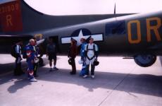 A group of us about to get in a B-17 at WFFC2000